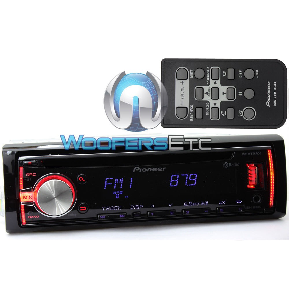 deh x5800hd pioneer in dash 1 din cd hd radio stereo. Black Bedroom Furniture Sets. Home Design Ideas
