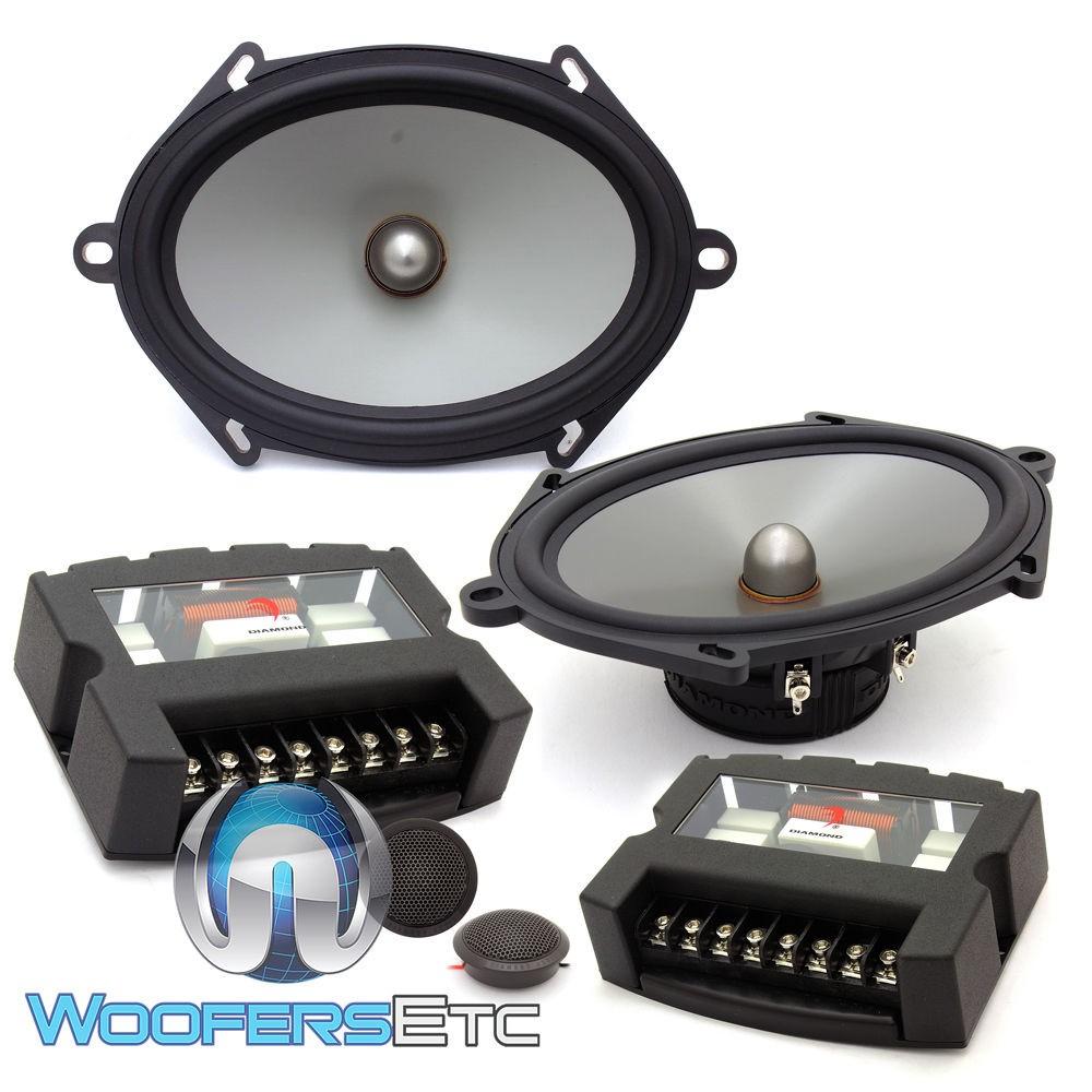 "Diamond Audio D672S 5""x 7"" / 6""x 8"" Convertible Speaker System with Silk Tweeters"