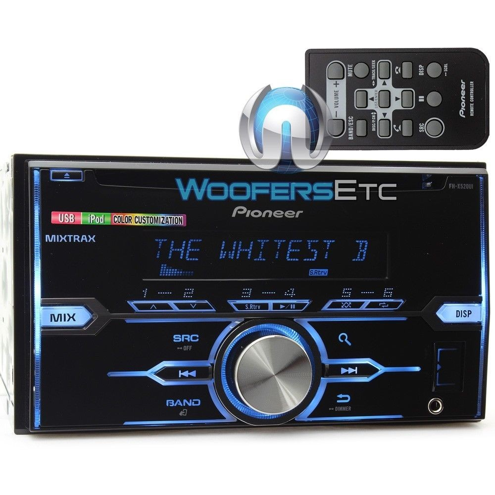 fh x520ui pioneer 2 din in dash cd mp3 stereo receiver. Black Bedroom Furniture Sets. Home Design Ideas