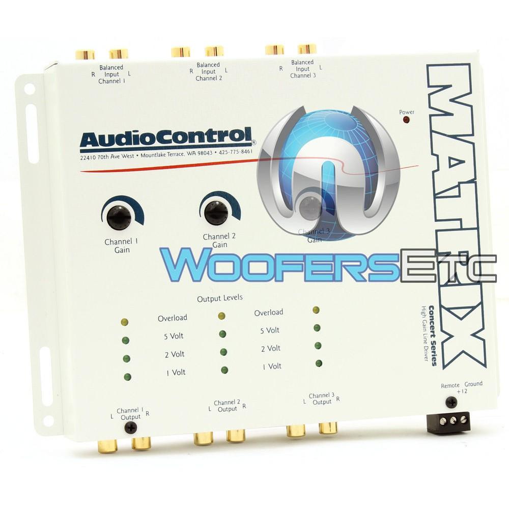MATRIX - AudioControl Six Channel Pre-Amp Line Driver/Level Matcher