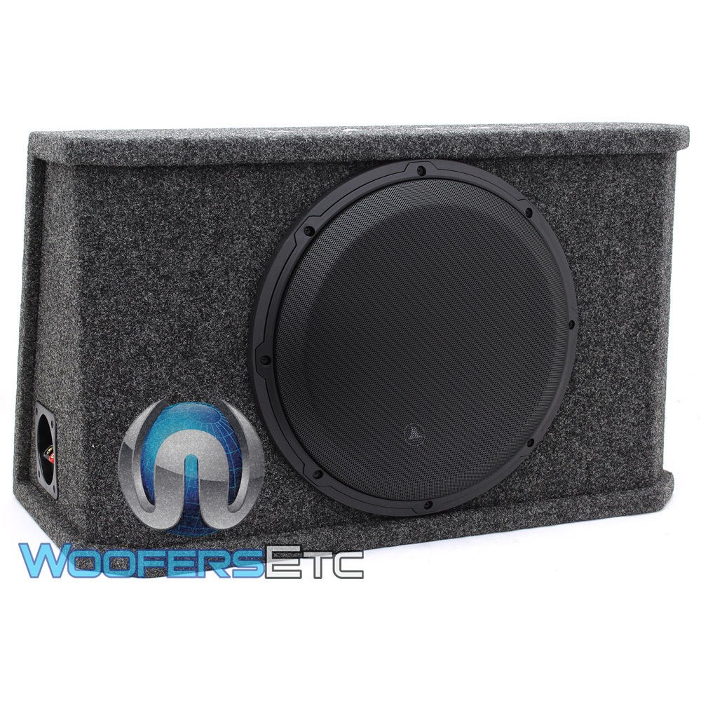 "CS112RG-W3V3 - JL Audio Single 12"" 12W3v3-4 Subwoofers Loaded in a PowerWedge W3v3 Sealed Enclosure with Grille Included"