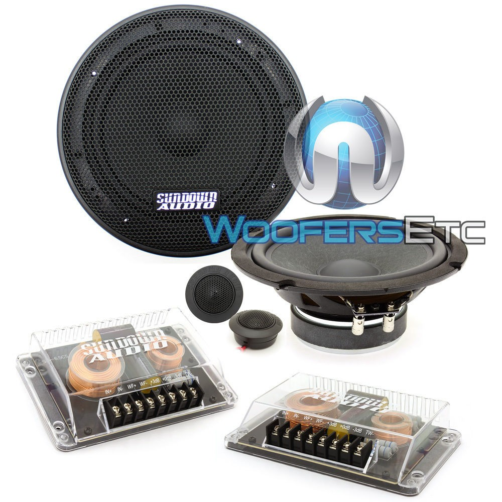 "Sundown Audio SD-6.5 CS 6.5"" Component Speakers System 60W RMS"