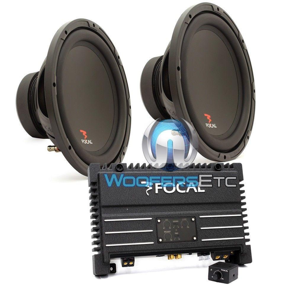 "pkg SOLID1 - Focal Monoblock 500 W RMS Power Amplifier + Pair of SUB P30 - Focal 12"" Subwoofers"
