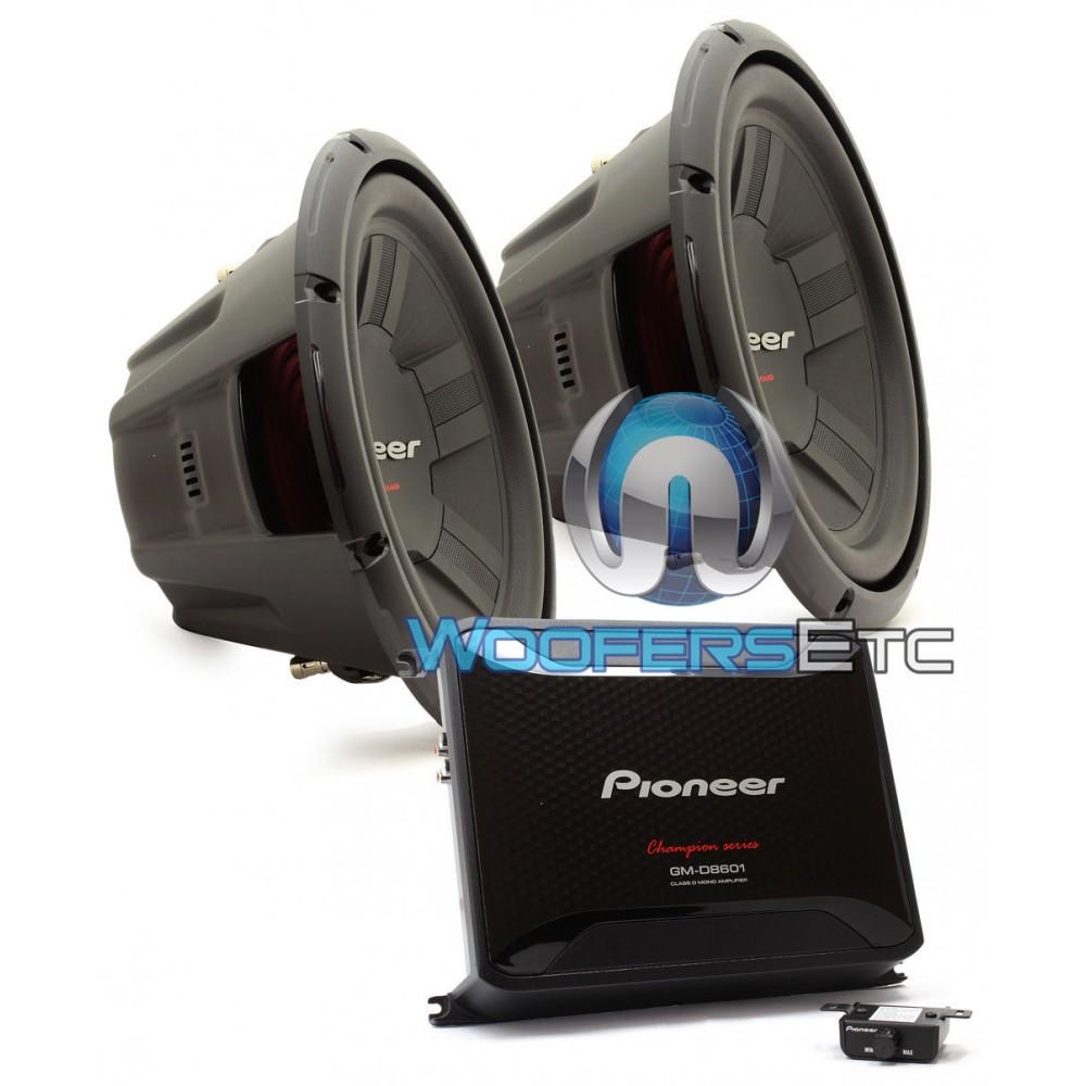 pioneer gm d8601. pkg pioneer gm-d8601 monoblock 800w rms class d amplifier + pair of ts-w311d4 12\ gm d8601