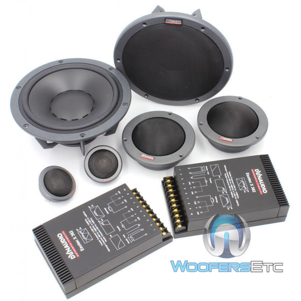 """Esotec System 342 - Dynaudio 7"""" 3 Way Component Speakers"""