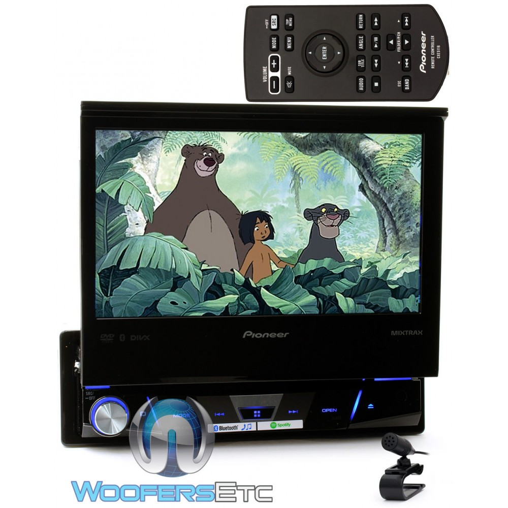 avh x7800bt pioneer in dash 1 din 7 flip out touchscreen display dvd receiver with bluetooth. Black Bedroom Furniture Sets. Home Design Ideas