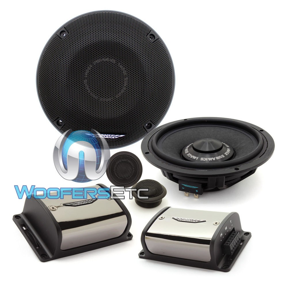 """IDQ65CS - Image Dynamics 6.5"""" 125W RMS 2-Way Component Speakers System"""
