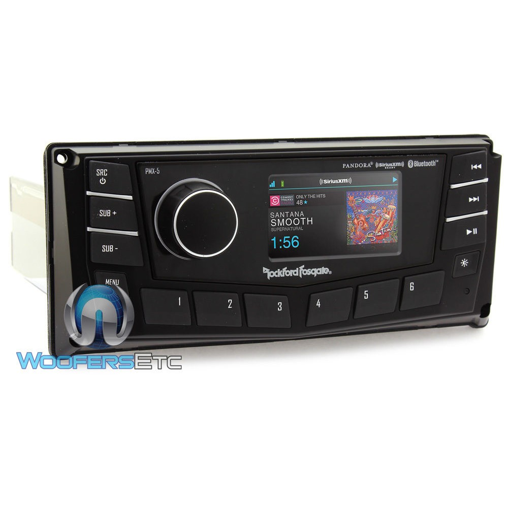 pmx 5 rockford fosgate in dash 1 din digital media receiver no cd 39 s. Black Bedroom Furniture Sets. Home Design Ideas