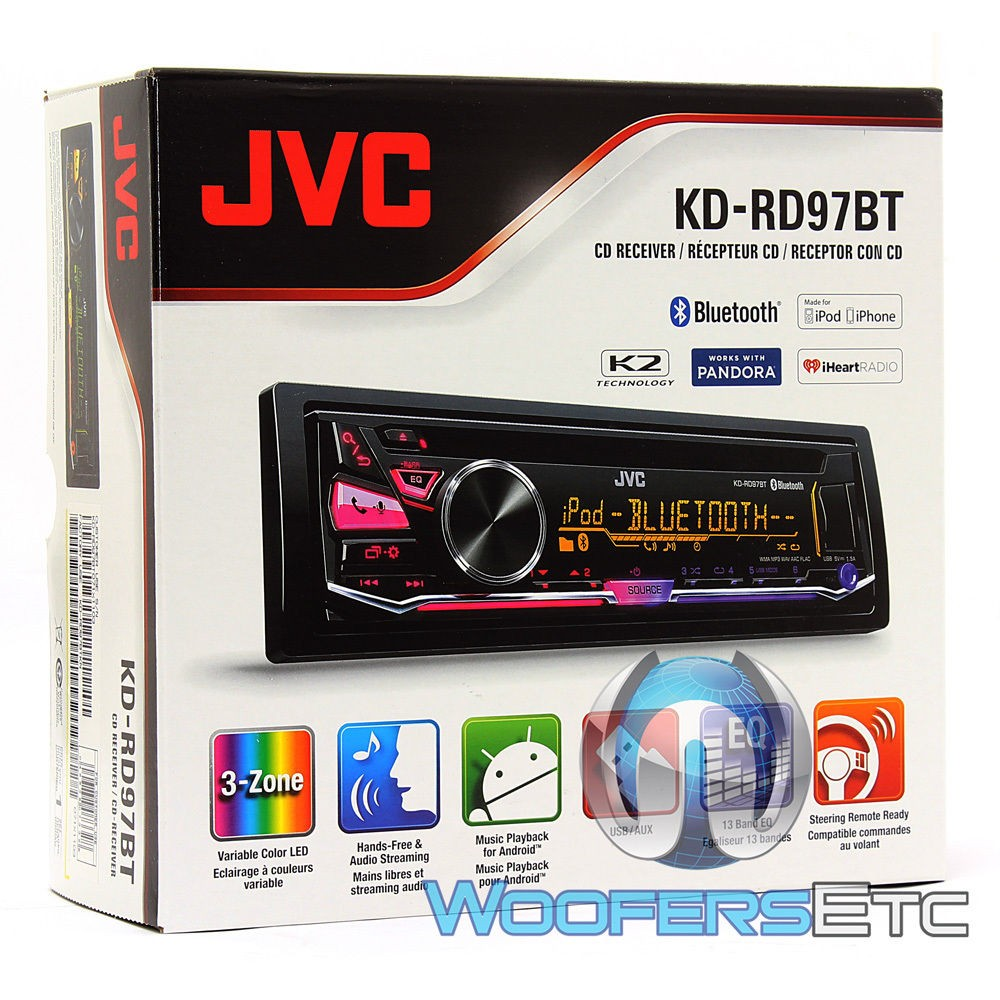 kd rd97bt jvc 1 din in dash cd mp3 stereo receiver with. Black Bedroom Furniture Sets. Home Design Ideas