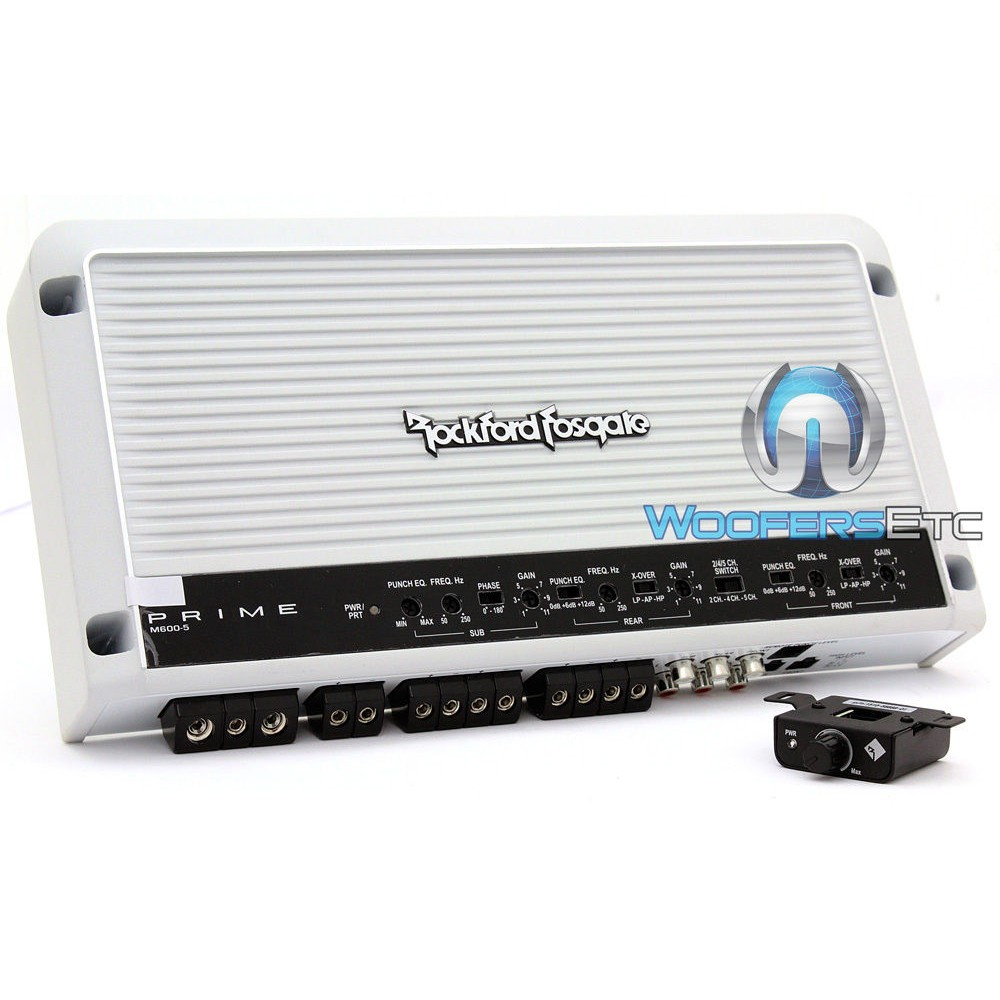 Rockford Fosgate M600-5 5-Channel Class AB/D Prime Series Amplifier