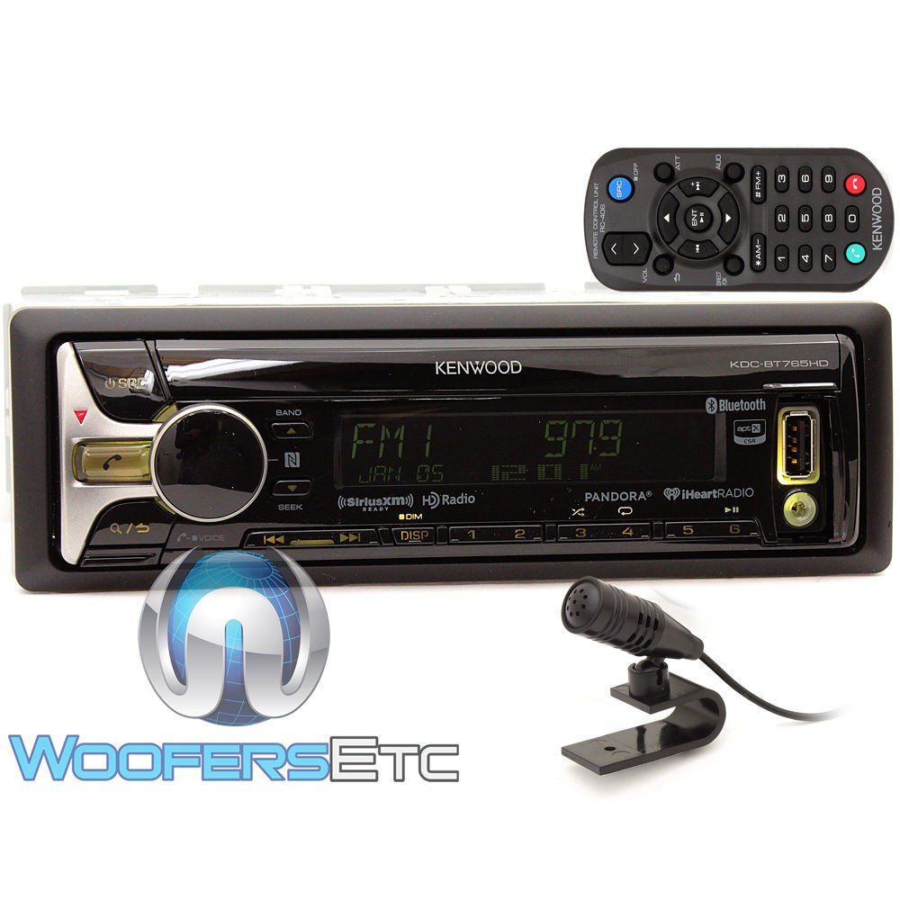 kdc bt765hd kenwood in dash 1 din cd mp3 usb stereo receiver with hd radio and bluetooth. Black Bedroom Furniture Sets. Home Design Ideas