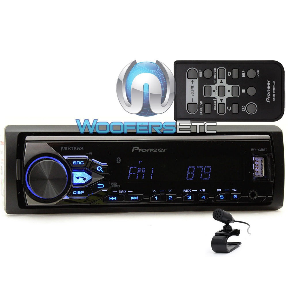 mvh x380bt pioneer in dash 1 din digital media receiver. Black Bedroom Furniture Sets. Home Design Ideas