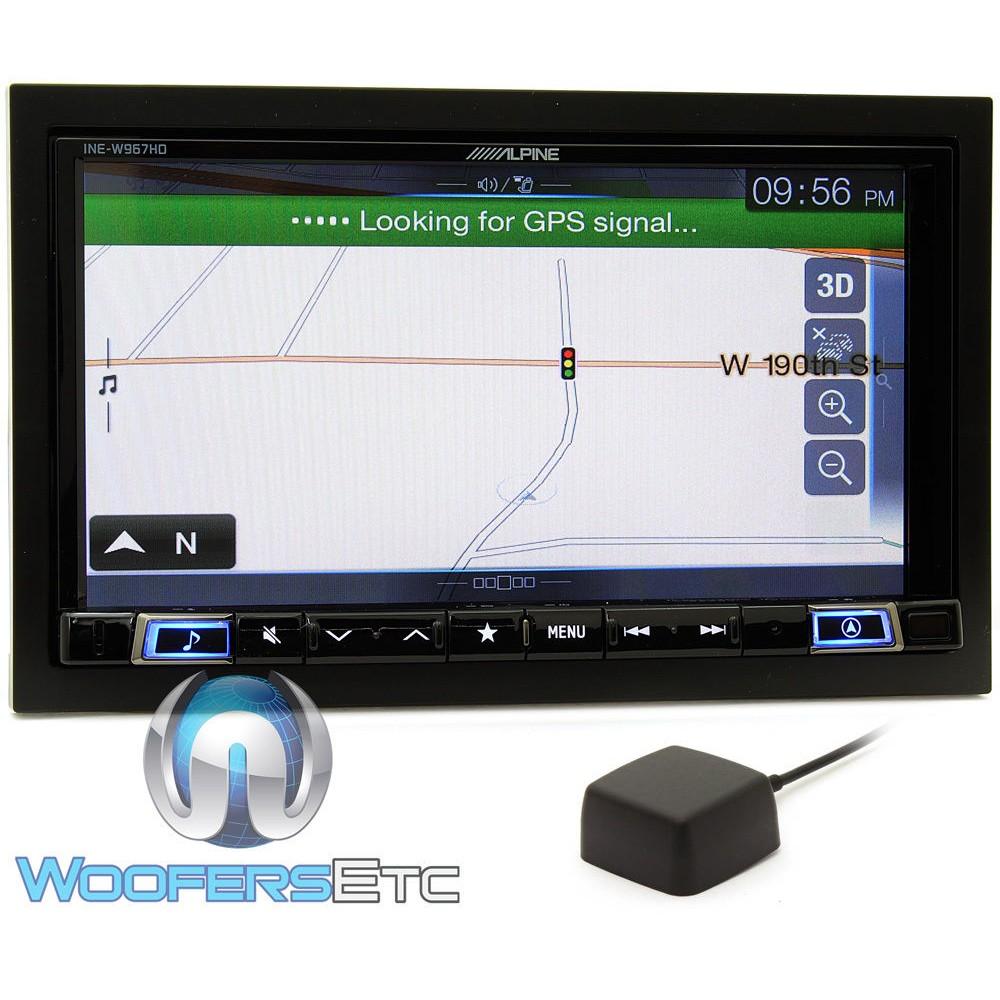 alpine ine w967hd single din 7 touchscreen car stereo w. Black Bedroom Furniture Sets. Home Design Ideas