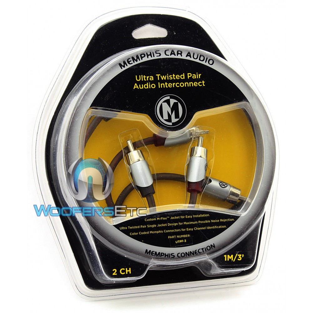 Memphis UTPF-3 Ultra Twisted Interconnect 3 Foot RCA Cable
