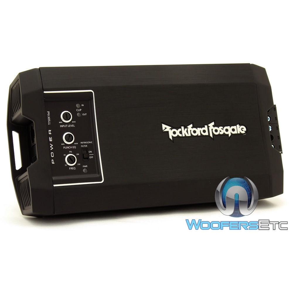 Rockford Fosgate T750X1BD Monoblock 750 Watts RMS Class BD Power Series Ultra Compact Motorcycle Amplifier