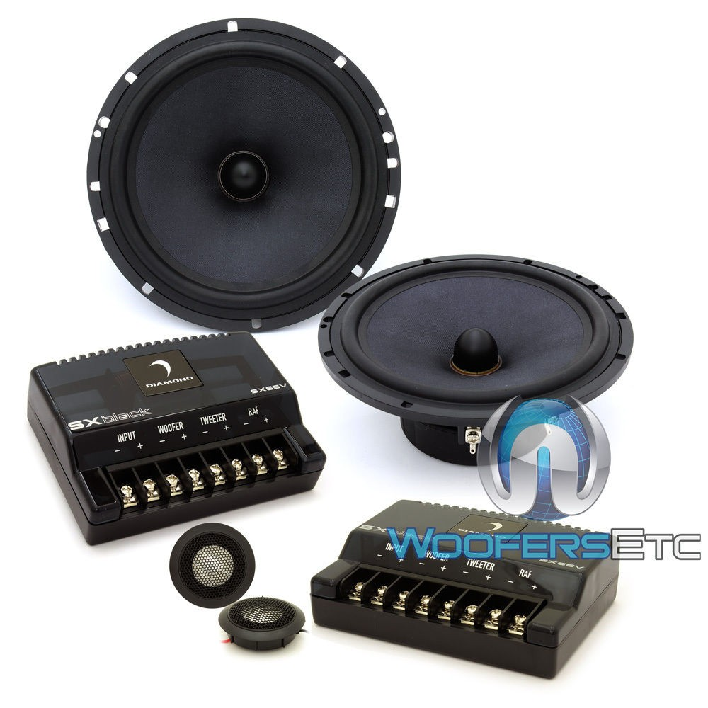 """Diamond Audio SX65V 6.5"""" 120 Watts RMS 2-Way Component Speakers System"""