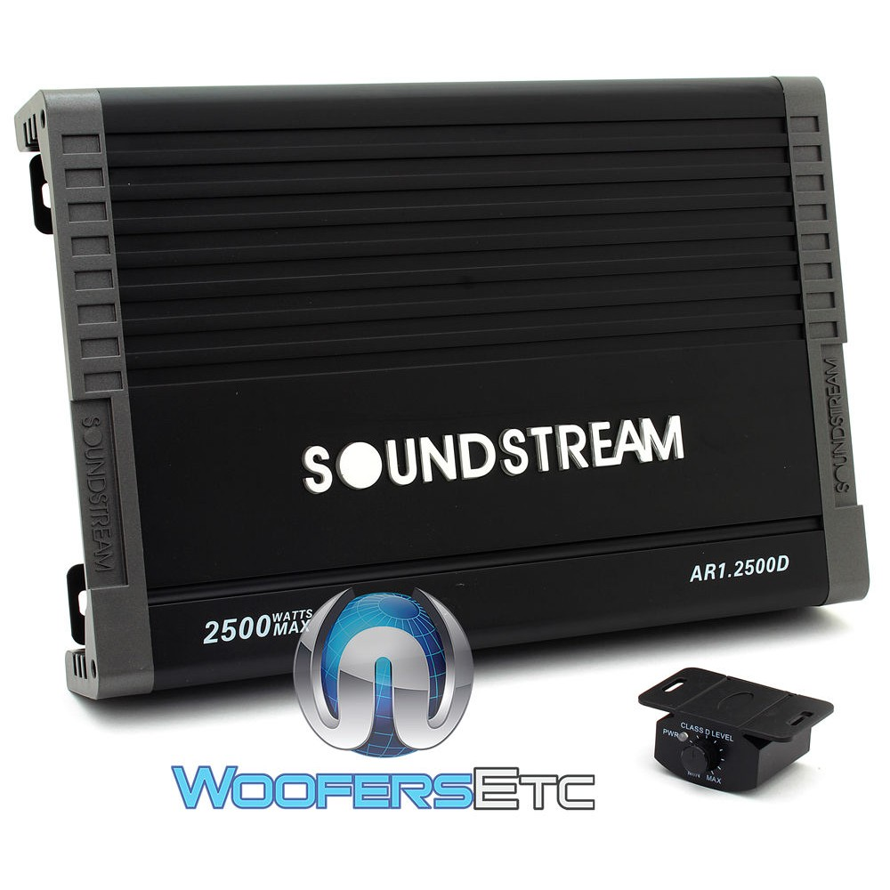 Soundstream AR1.2500D Monoblock 2500 Watts Class D Amplifier