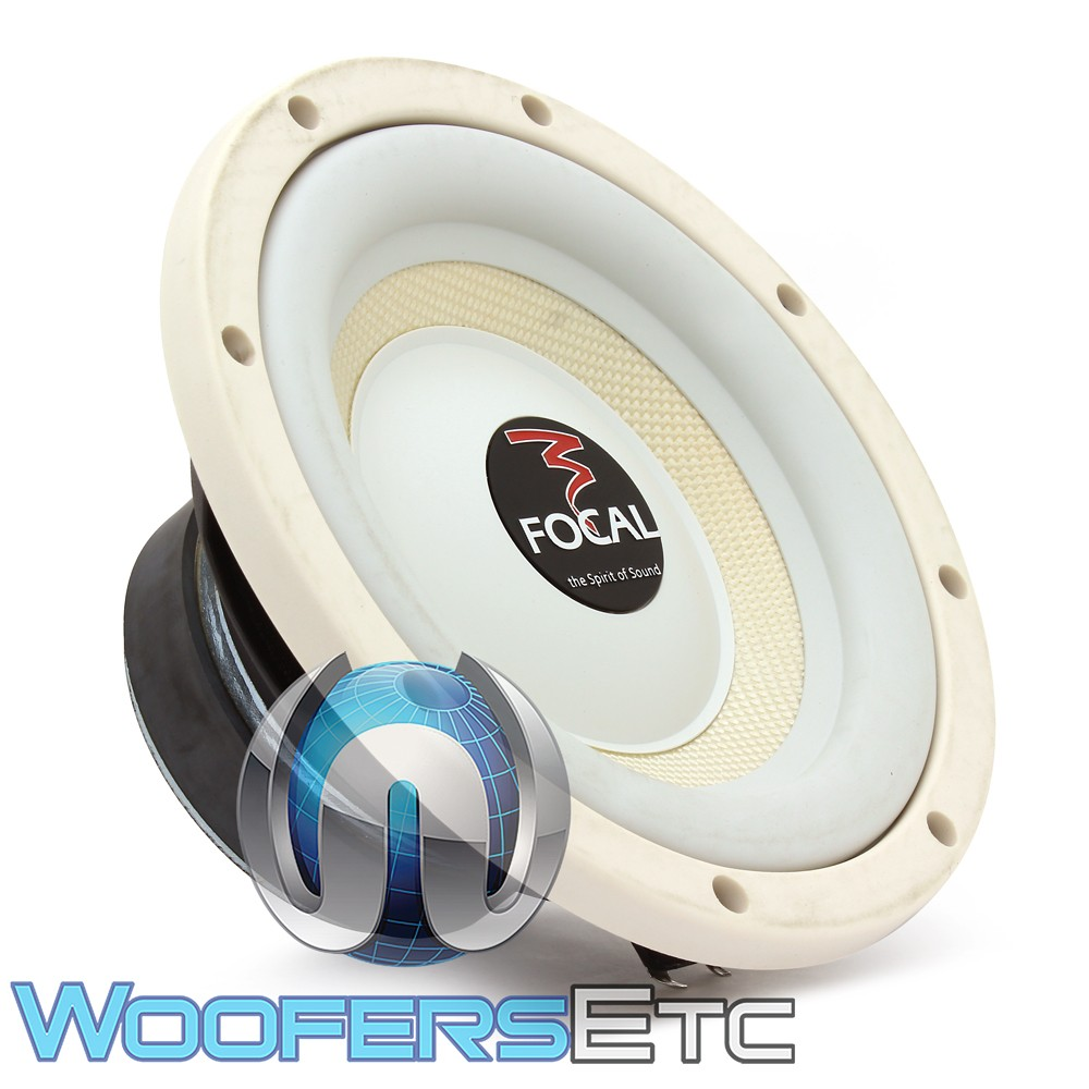 "Focal 20A1-W 8"" 150W RMS Single 4-Ohm White Marine Subwoofer"
