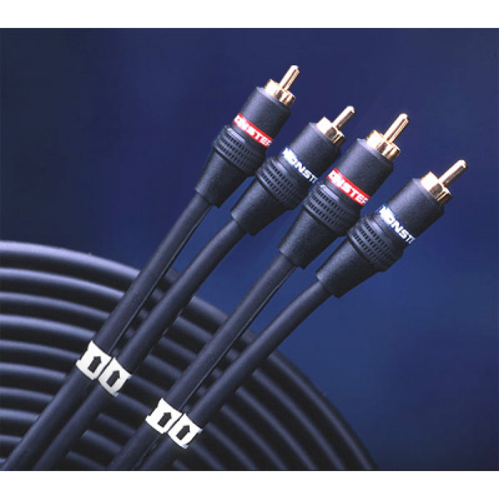 i101 5m monster cable 101 2 channel car audio rca interconnect cables. Black Bedroom Furniture Sets. Home Design Ideas
