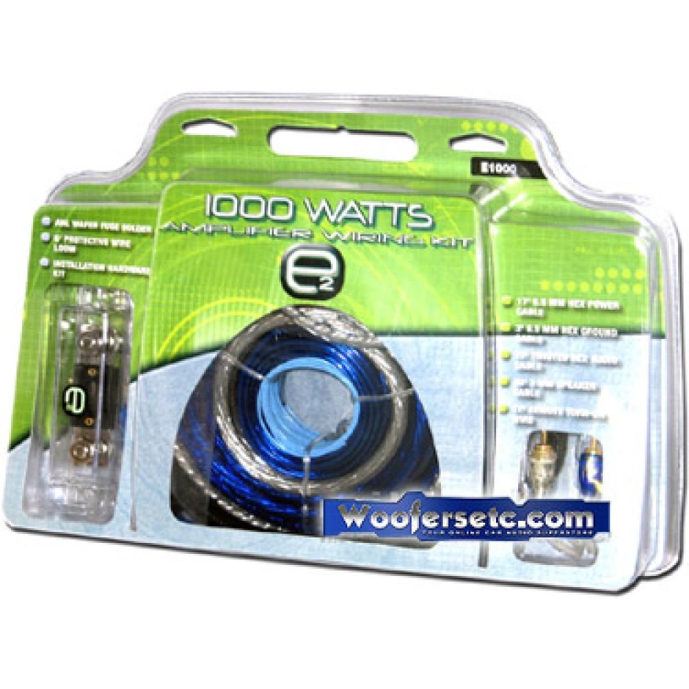E1000 - Scosche E2 4g. 1000W Complete Amplifier Kit