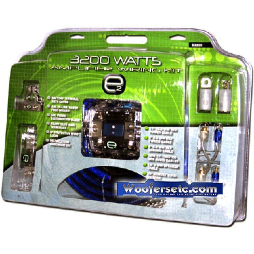 E3200 - Scosche e2 0-4Ga. Dual Amplifier Wiring Kit