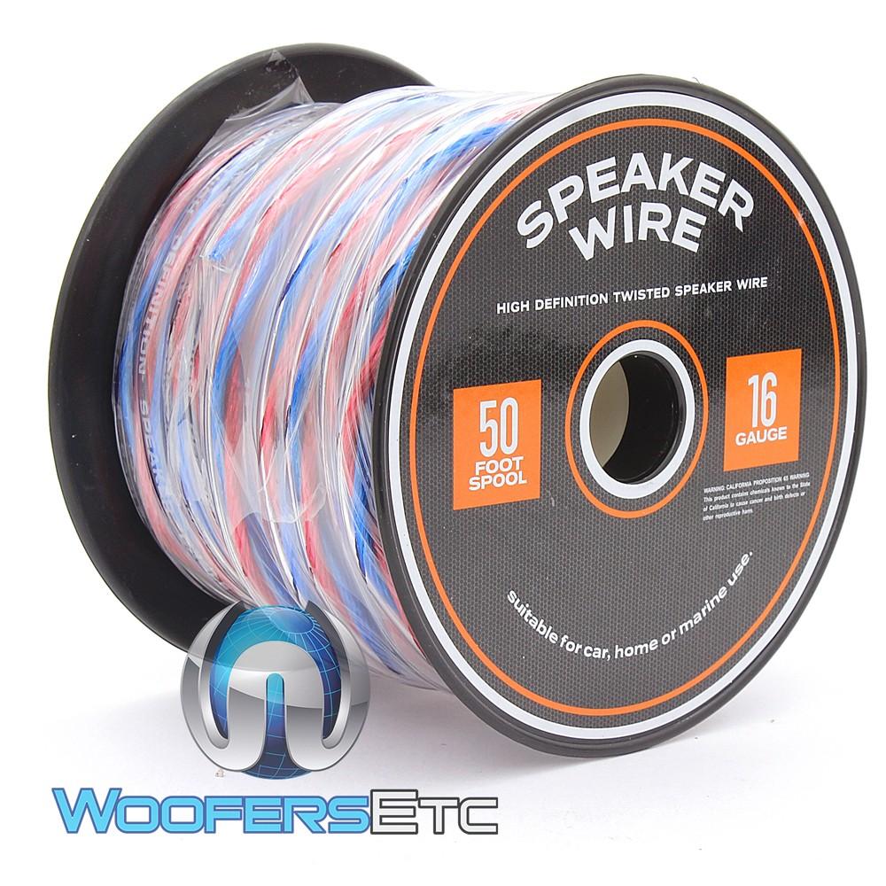 XLN16-50 True 16 Gauge 50 Foot Spool High Definition Twisted Speaker Car Home Marine Wire