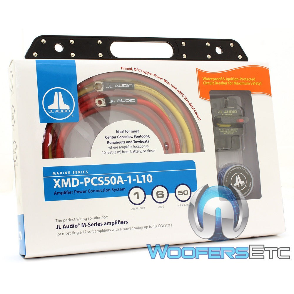 XMD-PCS50A-1-L10 - JL Audio Premium 6 AWG 12-Volt Power Connection System for Single Amplifier (Up to 10 Feet)