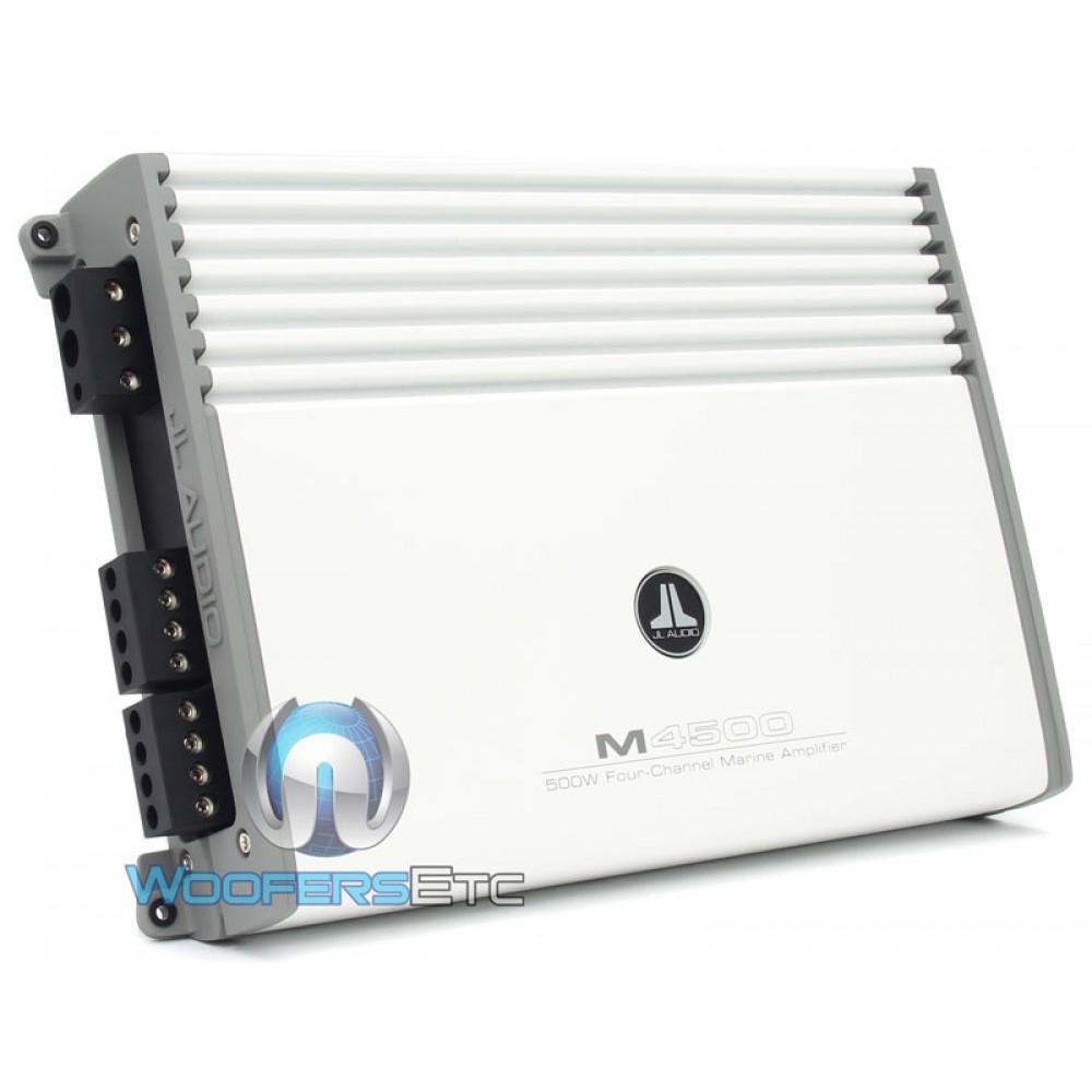 M4500 Jl Audio 4 Channel 500 Watt Marine Amplifier 250 Rms 4channel Car Amp Wire Kit Savings