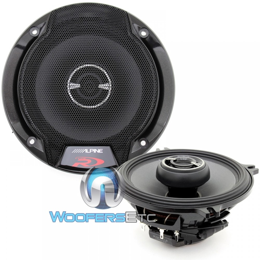 Alpine Spr 50 Wiring Diagram Speakers Circuit Symbols Type R 5 25 2 Way Coaxial Rh Woofersetc Com 2006 Toyota Sienna Stereo Channel Amp Wire
