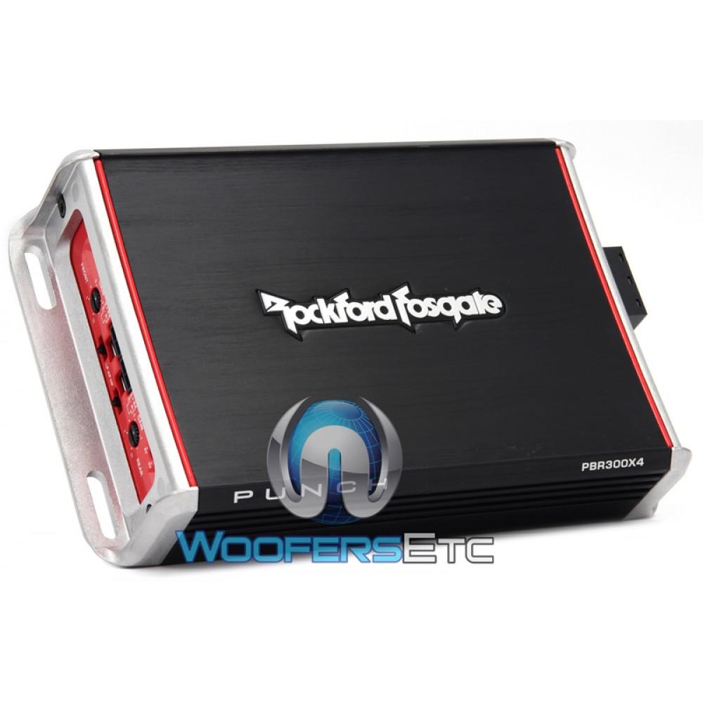 Rockford Fosgate PBR300X4 4-Channel 300 Watt Punch Series Booosted Rail  Motorcycle Amplifier.