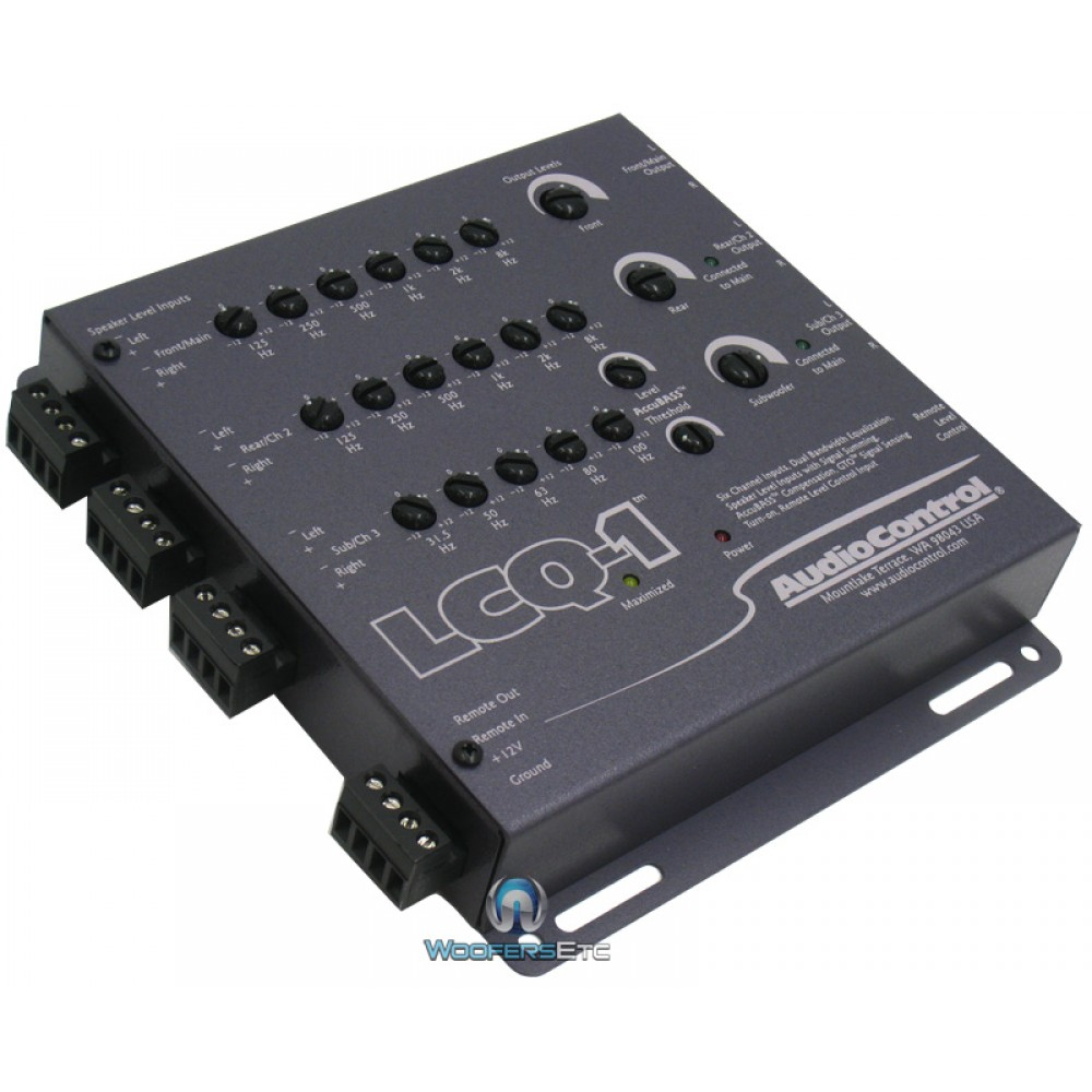 LCQ-1 GREY - Audio Control 6 Channel Line Output Converter with EQ