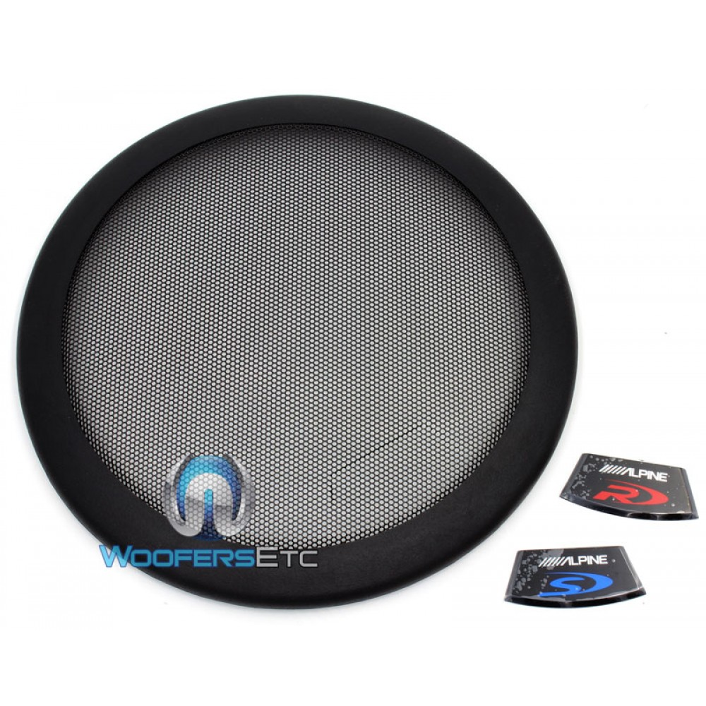 """KTE-12G - Alpine 12"""" Protective 2-Piece Subwoofer Grille for Type R, S, E"""
