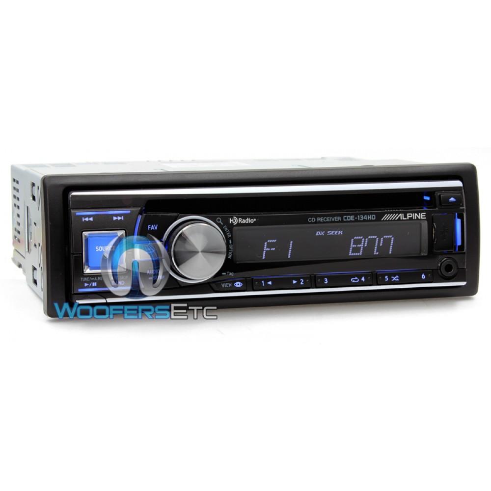 Alpine Single-DIN CD/MP3 Built-in HD Tuner