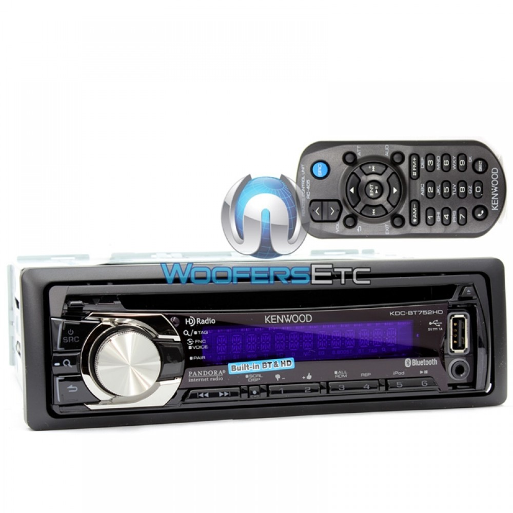 KDC-BT752HD - Kenwood In-Dash CD/MP3/WMA Car Stereo Receiver with  Bluetooth/Pandora Control/HD ...