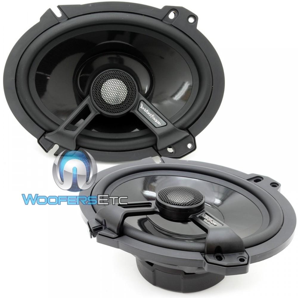"T1682 - Rockford Fosgate 6"" x 8"" Power Series 2-way Coaxial Speakers"