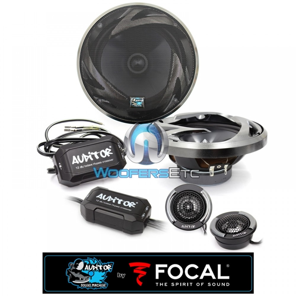 """RIP-165S - Focal Auditor Series 6.5"""" 60W RMS 2-Way Component Speaker System"""
