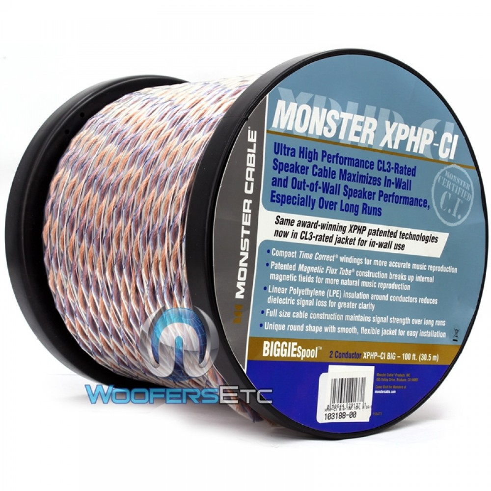 XPHP-CI- Monster Cable Biggie Spool 100 Feet Speaker Cable