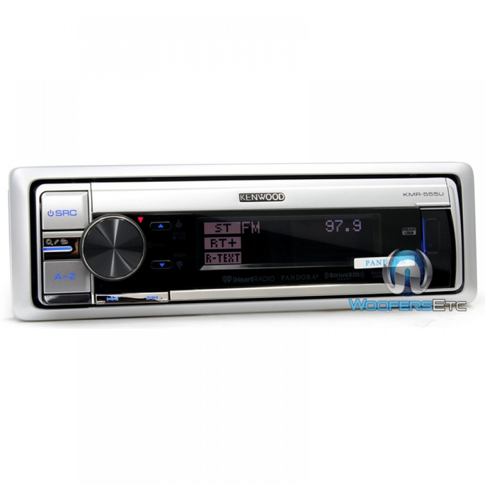 kmr 555u kenwood in dash am fm cd mp3 marine stereo receiver with usb ipod connection and. Black Bedroom Furniture Sets. Home Design Ideas