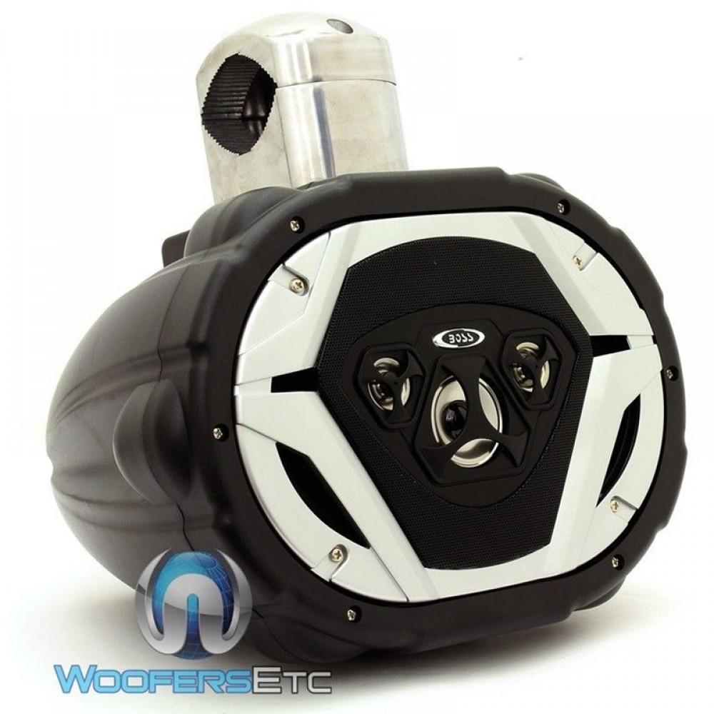 """MRWT69 - Boss 6"""" x 9"""" 275W RMS 4-Way Waketower Speaker"""