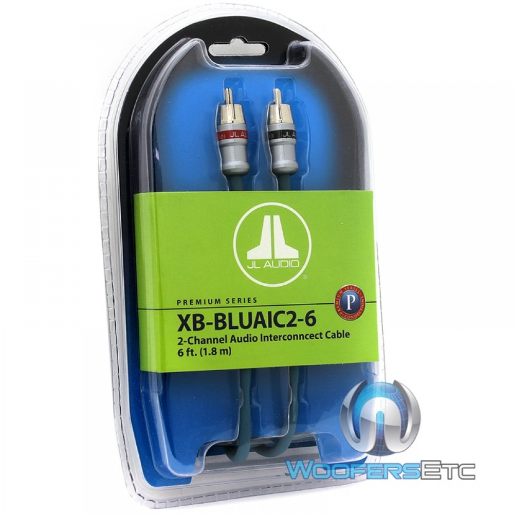 XB-BLUAIC2-6 - JL Audio 6 FT 2-Channel Interconnect RCA Cable