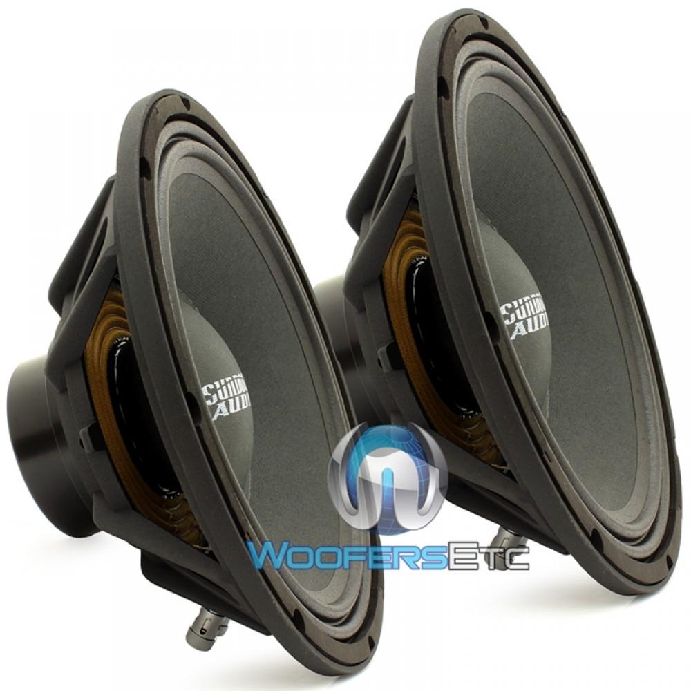 "Pair of Sundown Audio NeoPro 10 V2 8 10"" 300W 8-Ohm Midrange Speakers"