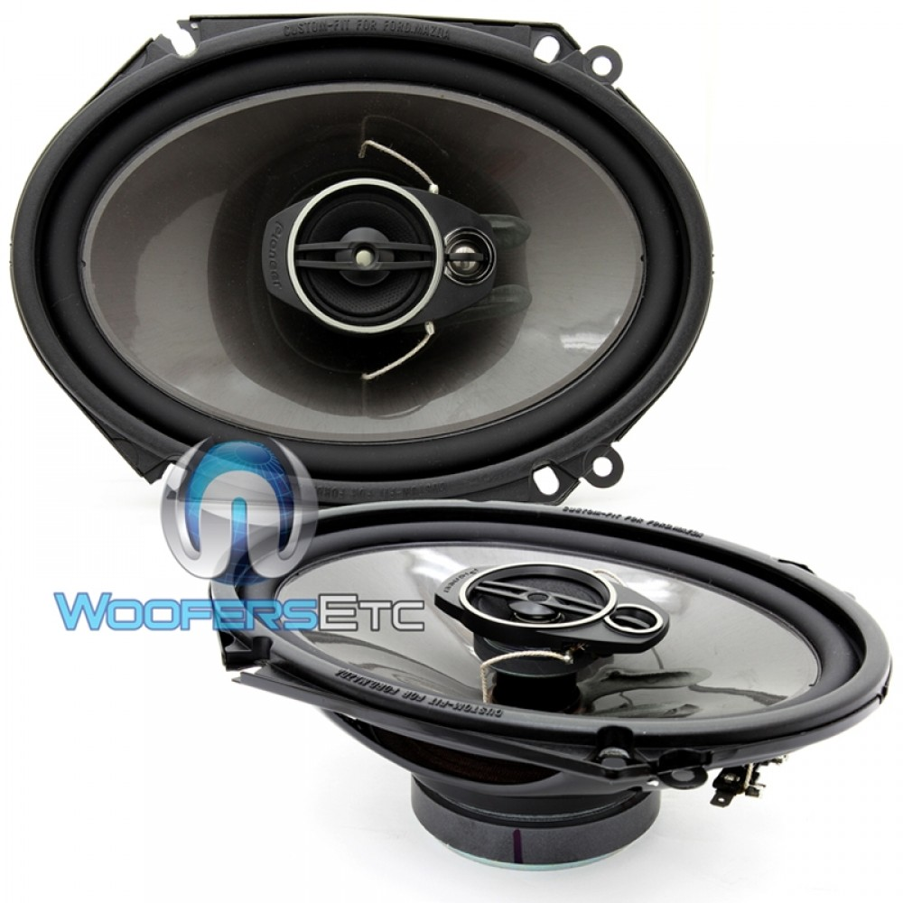 "TS-A6874R - Pioneer 6"" x 8"" 80W RMS 3-Way A-Series Coaxial Speakers"