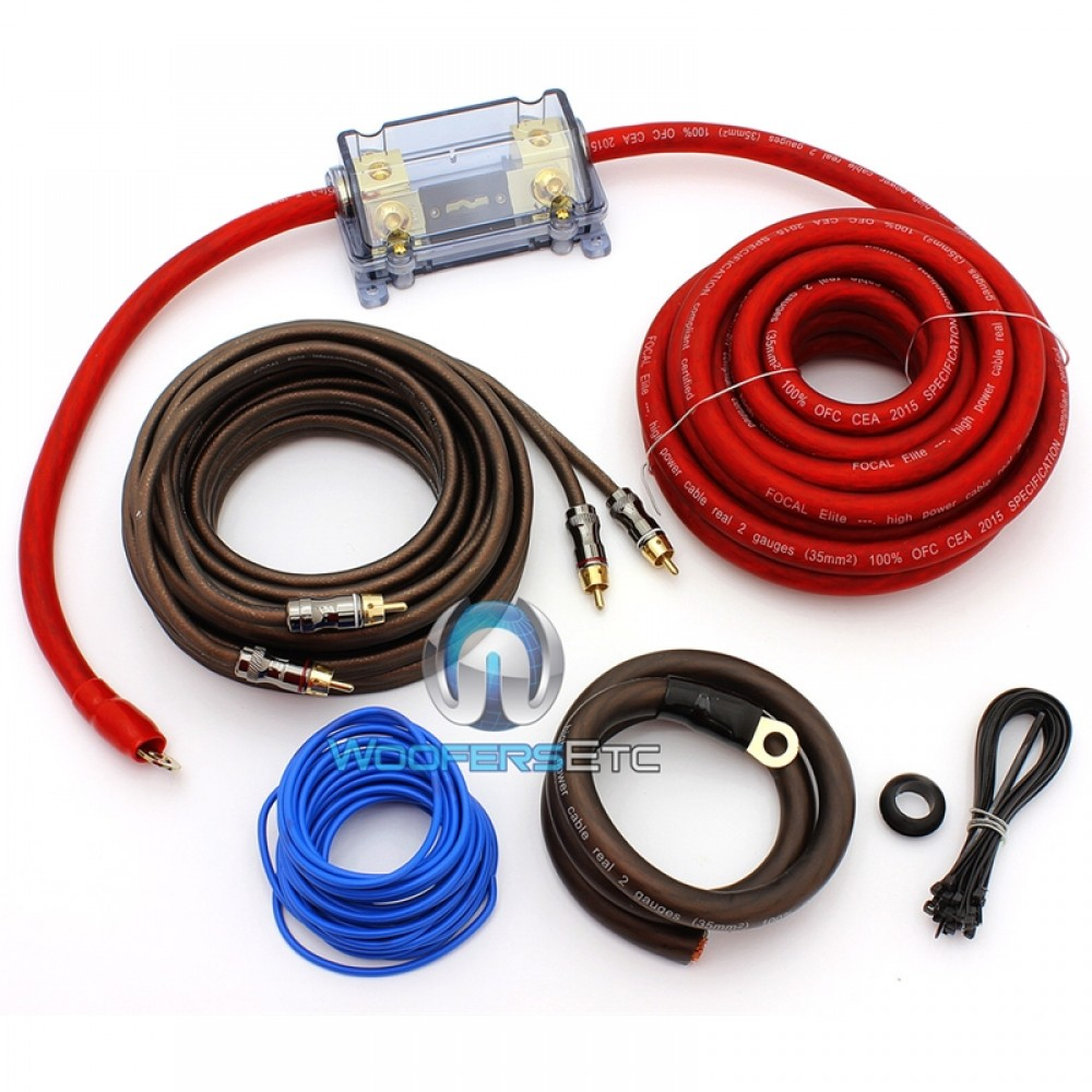 EK35 - Focal 2 AWG Elite Series Amplifier Wiring Kit
