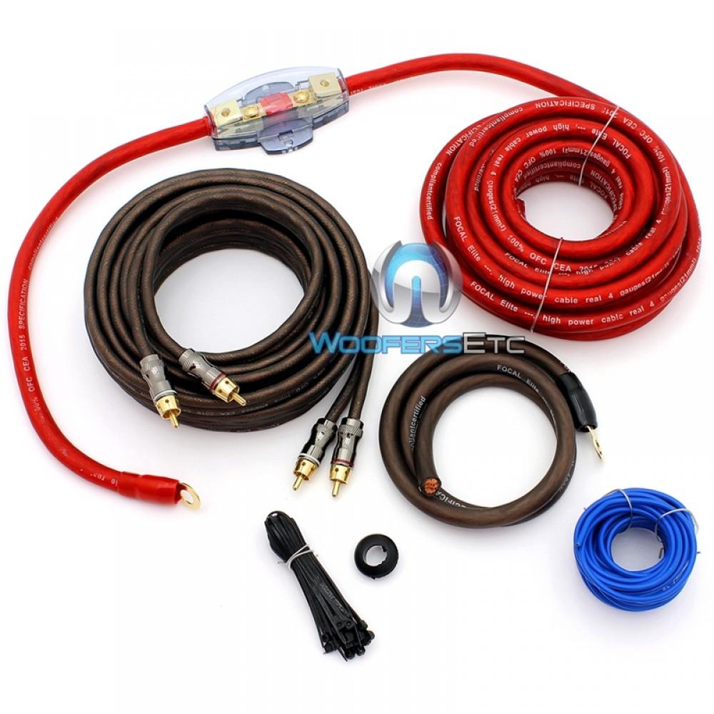 EK21 - Focal 4 AWG Elite Series Amplifier Wiring Kit
