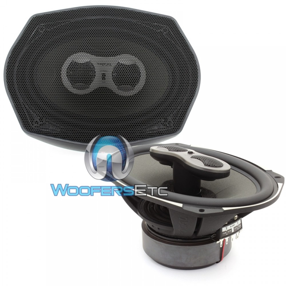 "Focal PC 710 7"" x 10"" 100W RMS Performance Series 3-Way Coaxial Speakers"