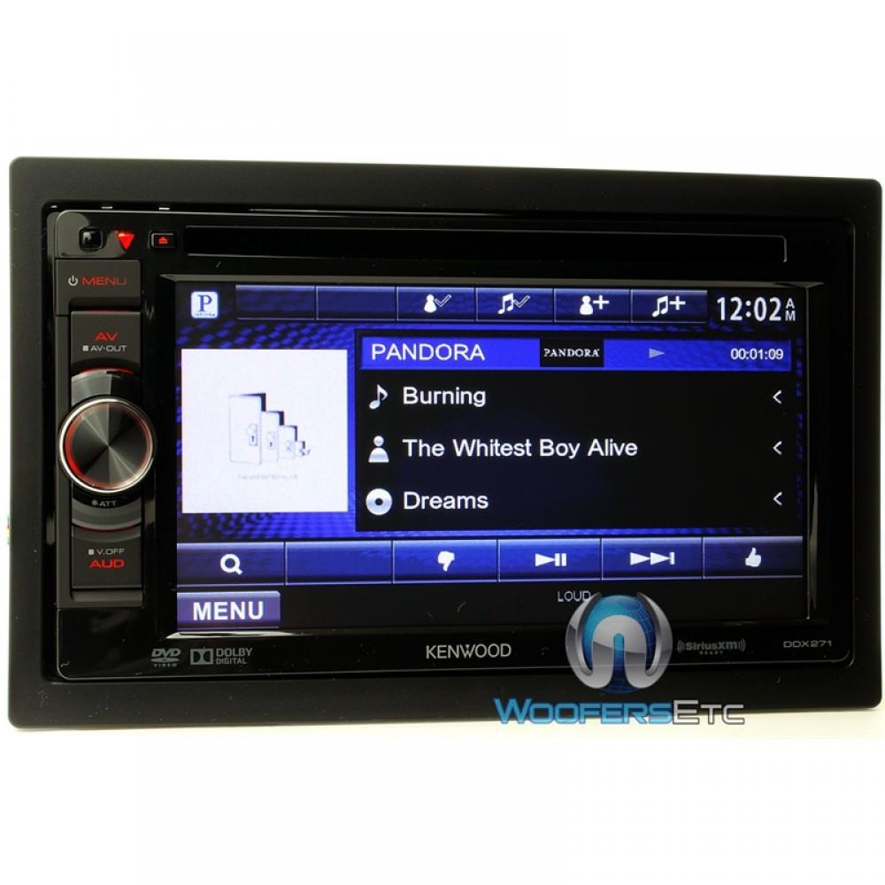 ddx271 kenwood 6 1 in dash 2 din touchscreen cd dvd. Black Bedroom Furniture Sets. Home Design Ideas