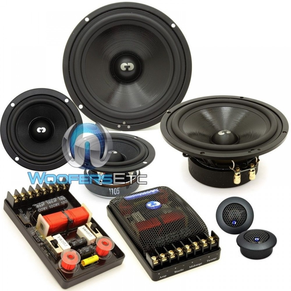 """HD-632 - CDT Audio 6.5"""" 3-Way HD Series Component Speakers System"""