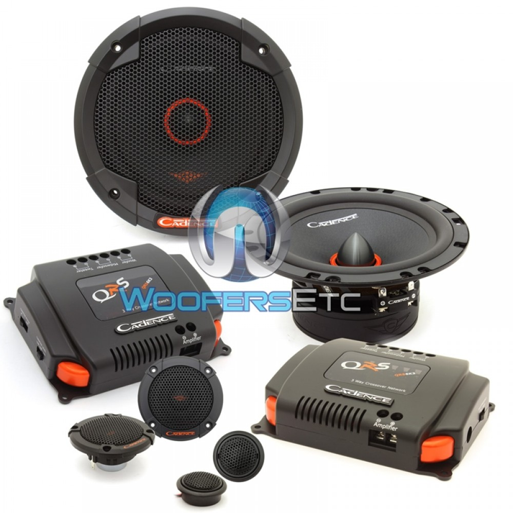 Qrs6k3 Cadence 65 100w Rms Qrs 3 Way Component Speakers System Car Subwoofer Amplifier