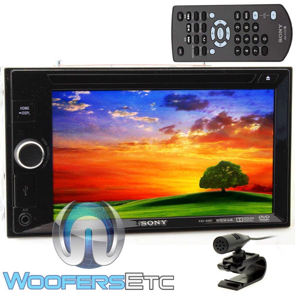 """XAV-68BT - Sony In-Dash 2-DIN 6.2"""" Touchscreen DVD Stereo Receiver with Bluetooth"""