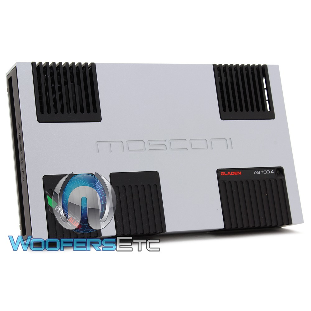 Mosconi AS 100.4 4-Channel 4 x 155W AS Line Series Class AB Amplifier